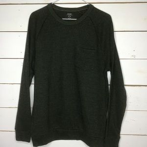New Old Navy Thermal Sweater Pocket Long Slv Crew